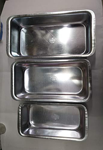 MA SONS Aluminums Bread Box Set of 3 pc Size 1.5 Pound 1 Pound and Half Pound