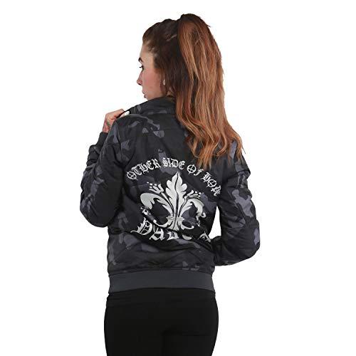 Mezza Grey Yakuza Stagione Camouflage giacca Padded Giacche Donna Lily tFtxwv6aq