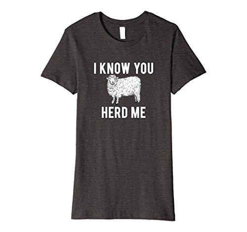 T-shirt Animal Funny Sheep (Womens I Know You Herd Me Sheep Pun T-Shirt Funny Animal Joke Large Dark Heather)