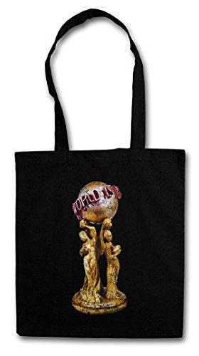 SCARFACE THE WORLD IS YOURS Hipster Shopping Cotton Bag Cestas Bolsos Bolsas de la compra reutilizables - Earth Tony Montana Al Pacino Blow Cuba Kuba Globe