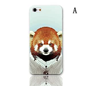 ZL Lovely Koala Series Pattern Hard Case with 3-Pack Screen Protectors for iPhone 5/5S , E
