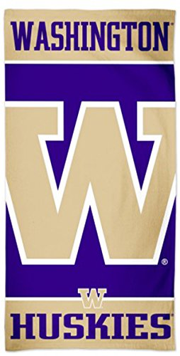WinCraft Washington Huskies Beach Towel with Premium Spectra Graphics, 30x60 inches by WinCraft