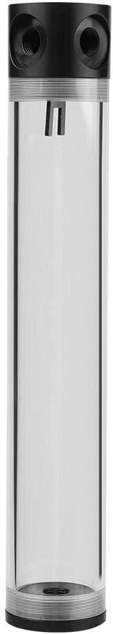 Yoidesu CPU Cooling Heat Exchanger Water Pump Tank 50mm Diameter Cylinder Water Cooling Tank G1//4 Thread Computer DIY Cylinder Water Tank for CPU Cooling Multiple Length 240mm
