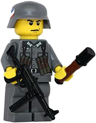 Modern Brick Warfare German WW2 MP40 Soldier Custom Minifigure
