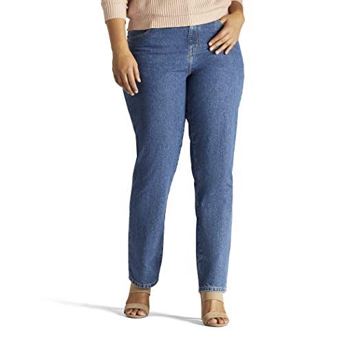 LEE Women's Plus-Size Relaxed Fit All Cotton Straight Leg Jean, Livia, 22W Medium