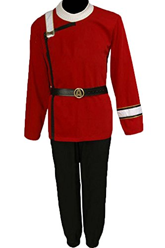 [CosplaySky Star Trek II-VI Wrath of Khan Costume Starfleet Uniform XXX-Large] (Red Star Trek Dress)