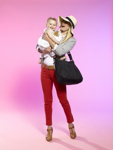 Babymel Amanda Quilted - Bolso cambiador, color negro
