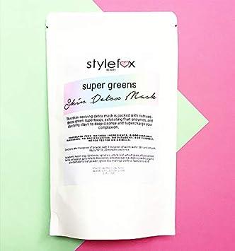 Amazon.com: STYLEFOX Super Greens Detox - Máscara para la ...
