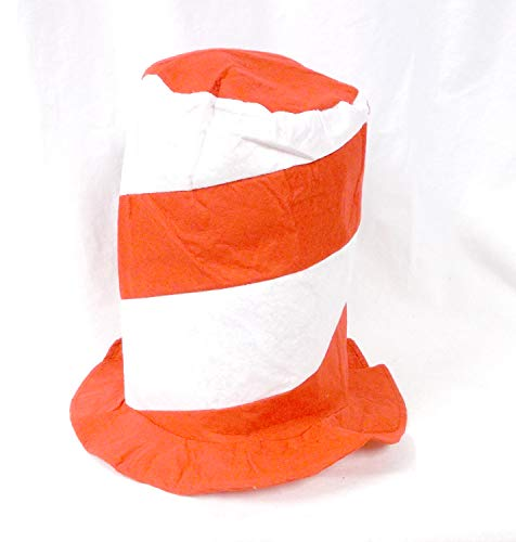 Classic Red Felt Hat - U.S. Toy Red and White Stovepipe Felt Hat (1)