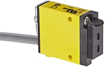 Banner SM312FP Mini Beam Photoelectric Sensor, For Use With Plastic Fiber Optic Assembly, 2 m PVC 4-Wire Cable, Visible Red LED, 10-30 VDC Supply Voltage, Bipolar (NPN and PNP) Output, Variable Sensing Range