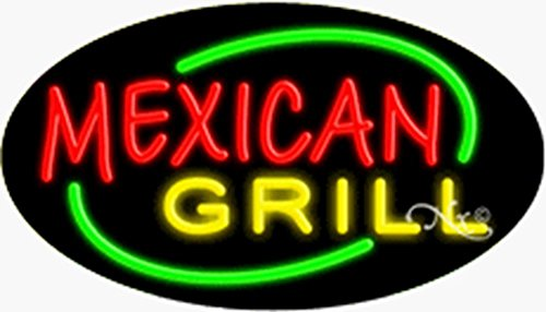 UPC 783629236028, 17x30x3 inches Mexican Grill Flashing ON/OFF NEON Advertising Window Sign