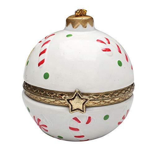 Bandwagon Christmas Decoration - Porcelain Surprise Ornaments Box - Candy Canes
