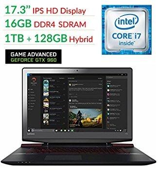 "Lenovo Ideapad Y700 17.3"" FHD Flagship High Performance Gaming Laptop PC   Intel Core i7-6700HQ   16GB RAM   1TB+128GSSD   NVIDIA GeForce GTX 960M with 4GB   Backlit Keyboard   Windows 10"