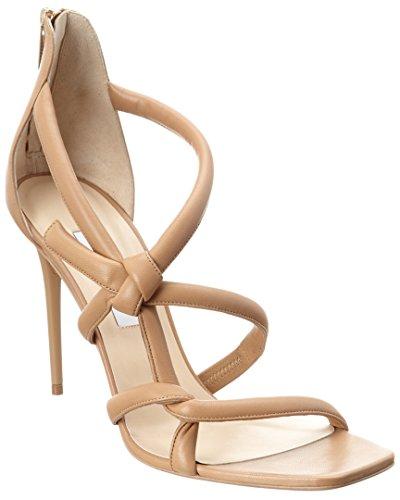 Jimmy Choo Gold Sandals (Jimmy Choo Knot 100 Leather Sandal, 40.5, Beige)