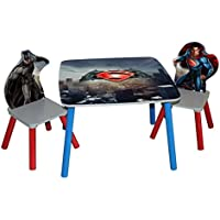 Batman vs Superman: Dawn of Justice Wooden Table and Chairs Set