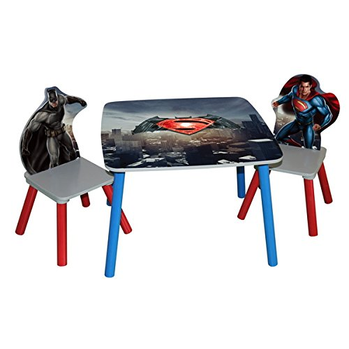'Batman vs Superman: Dawn of Justice' Wooden Table and Chairs Set by Generic