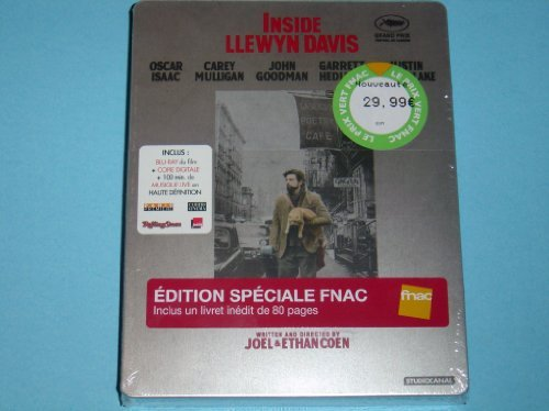 Inside Llewyn Davis France FNAC Extremely Limited Exclusive 2-Disc Blu-Ray Steelbook Edition 1st Disc Movie + 2nd Disc Live Concert + 80 Pages Book + More Extras Region B