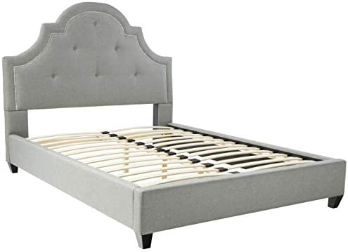 Baxton Studio Colchester Linen Modern Platform Bed