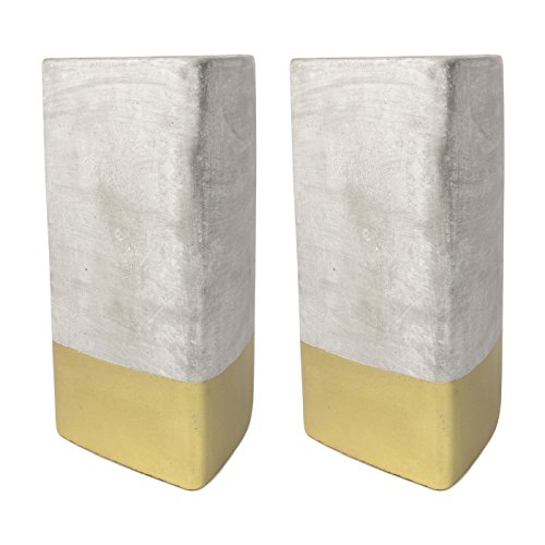 Candle Triangle Scented - Paddywax Urban 28 Oz. Concrete Triangle Gold Amber + Smoke Candle - Pack Of 2