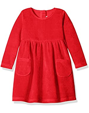 Toddler Girls' Velour Double Pocket Dress
