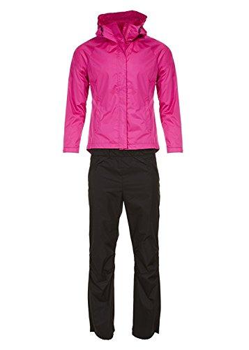 Swiss Alps Womens Ripstop Water-Resistant 2 Piece Rain Suit Berry S (2 Piece Rainsuit Pants)