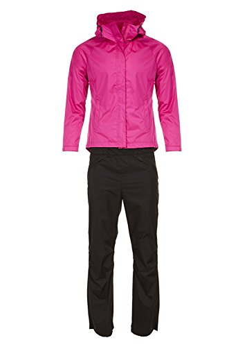 Swiss Alps Womens Ripstop Water-Resistant 2 Piece Rain Suit Berry L ()