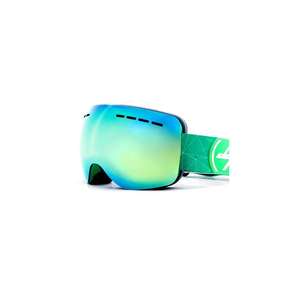 vert  YJWOZ Lunettes de Ski Grandes Lunettes de Ski Anti-buée Doubles sphériques Peuvent Porter Un équipeHommest extérieur Coupe-Vent myopie Masque de Ski (Couleur   vert)