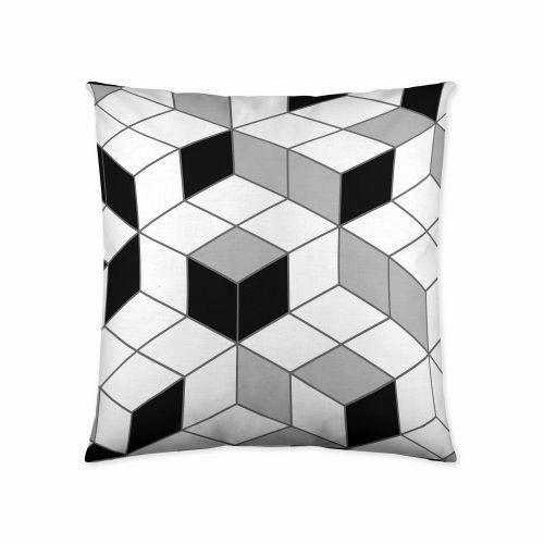 COTTON ART Funda de Cojín Geo Cube 60 X 60