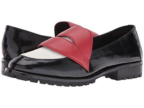 alice + olivia Women's Tamar Loafers, Black/Dove/Ruby, 35 EU (5 B(M) US Women)