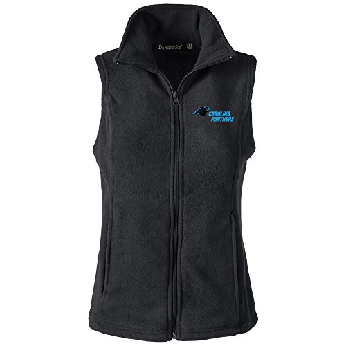 - NFL Carolina Panthers Womens Houston Ladies Fleece Vest, Black, XX-Large