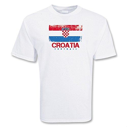 優しい前ドットCroatia Football T-shirt
