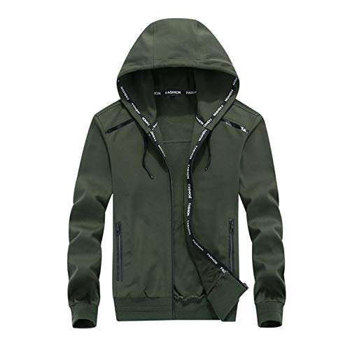 Tide Grandi Dimensioni Size Dark Grey Hooded Big Auspiciousi Men Students Of Di Oversize Plus Jacket Yards Coat Cotton Cardigan Uomini Zipper nHwAHqEX7