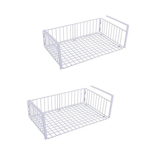 YOMYM Chrome Storage Drawer Rack Stackable Under Sink Cabinet Sliding Basket (2 Pack)