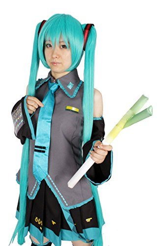 Hatsune Miku All Costumes (M Size Wig with Hair Net Leek with a Full Set Costume 10 Cosplay Hatsune Miku)