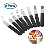 8 Pack Pottery Clay Modeling Tools, craftsman168 Stainless Steel Carving Shaping Knives Clay Trimming Tools Pottery Set for Carving, Shaping, Clay Sculpture, Modeling