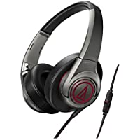 Audio-Technica SonicFuel Over-ear Headphones for Smartphones, Gunmetal