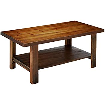 Amazon Com Farmhouse Stain Coffee Table In Brown Finish