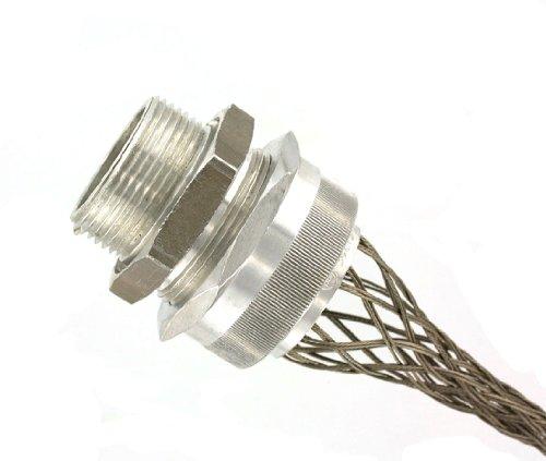 Leviton L7719 1-Inch, Straight, Male, Aluminum Body, Deluxe Cord Sealing Strain-Relief.875, 1.000 Cord Range (Nested Aluminum Wire)