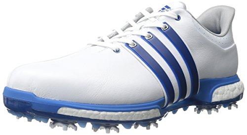 adidas Golf Men's TOUR360 Boost-M, White/EQT Blue/Shock Bl, 10.5 US