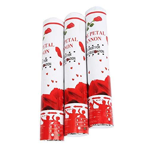 Gonikm Bulges Wedding Birthday Multicolor Square Piece Rose Petals Confetti Cannon Popper Confetti