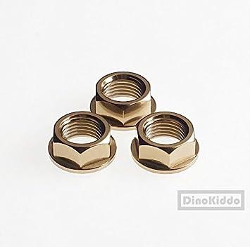 De noviembre de oro titanio Set para tuercas de rueda trasera (M10) para Brompton