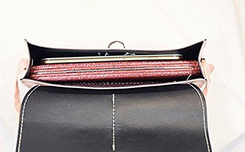Faux Pink Leather Crossbody Fille Sac Esailq Bandoulière Femme À Satchel PxqZ4wRH