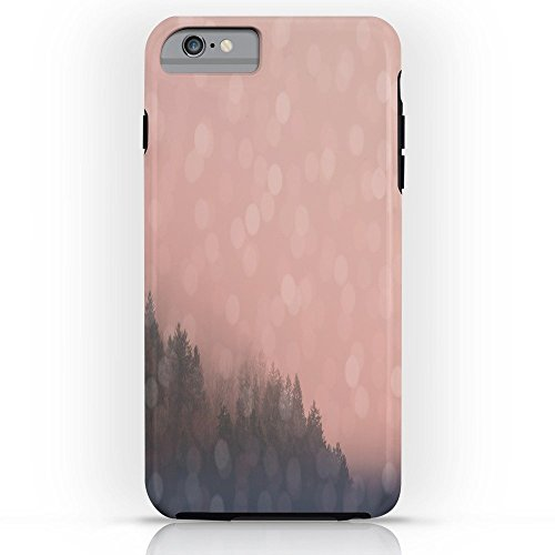 Roses Garden Phone Case Protectivedesign Hard Back Case Frosty Morn, Pink Sunrise Forest Landscape Sparkles Tough Case iPhone 6s Plus ()