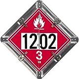 "2 Legend Flip-n-Lock Canadian Fuel Placard, Aluminum (white), 13.75"" x 13.75"" offers"