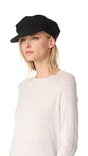 Janessa Leone Women's Mattie Greek Fisherman Cap, Black, Small by Janessa Leone