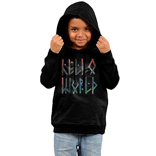 Price comparison product image 2016 Hello World Sweatshirts Black Hooded Sweatshirt For Your Kids