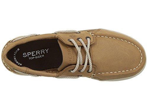SPERRY Boys' Gamefish Boat Shoe, Dark Tan, 5.5 Wide US Big Kid
