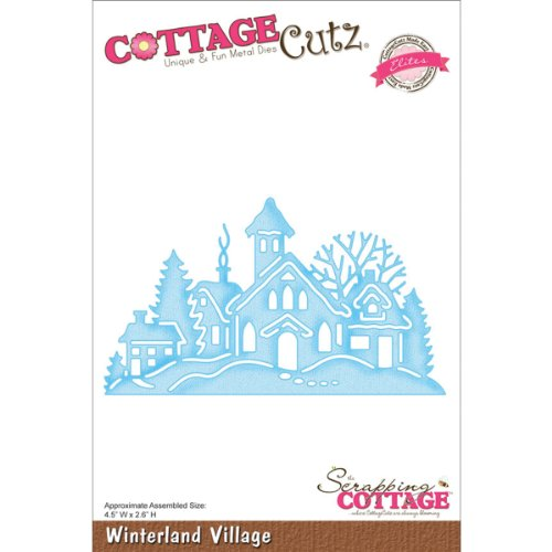 (CottageCutz CCE054 Elites Die Cuts, 4.5 by 2.6-Inch, Winterland Village)