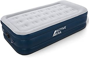 Premium Single Size Air Bed with a Built-in Electric Pump and Pillow