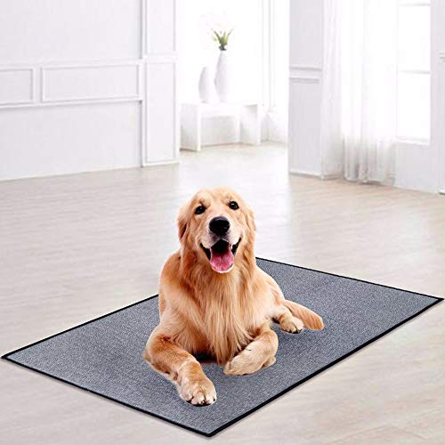 LOCHAS Original Environment Pet Rugs, Heavy Duty Pet + Dog Mat, Design Size 3.2' x 4.6' - Anti Slip & Durable, Cool and Breathable, Grey - Environments Small Rug